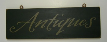 Antiques Green Sign
