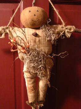Pumpkin Head Doll
