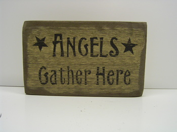Angels Gather Here Sign