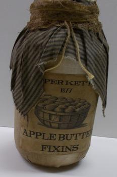 Apple Butter Jar Blue