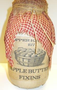 Apple Butter Jar Red