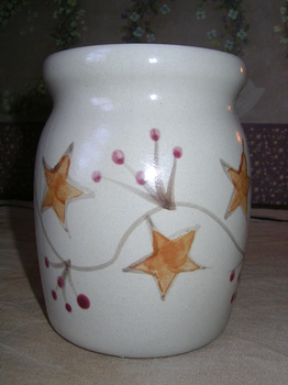 pottery spoon jar berryvine