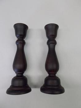 Black Primitive candle sticks