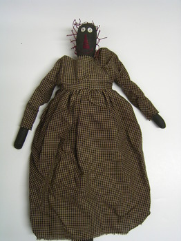 Black Folk Doll With Check