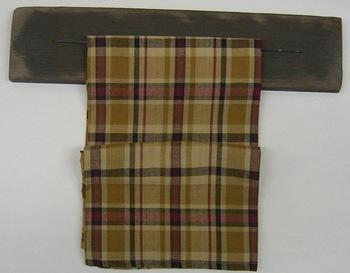Rustic black towel hanger