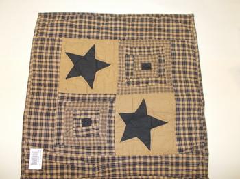 Black star quilt square