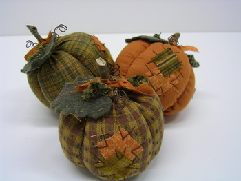 Fabric Pumpkin Set