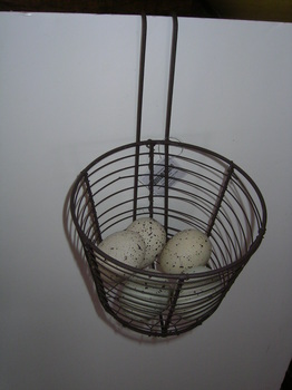 hanging egg basket