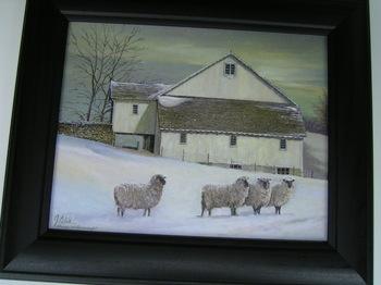 Sheep Barn In Snow
