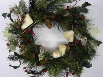 Large Ice Skate Wreath