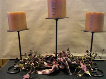 Three Tier Iron Candle Centerpiece