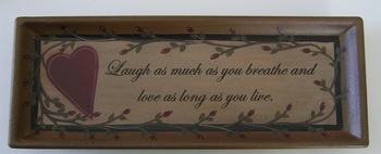 Love And Laughter Plate