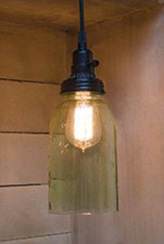 Mason Jar hanging Light