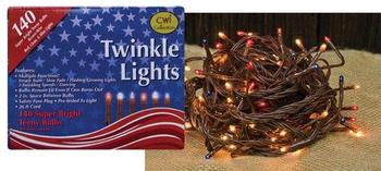 Patriotic twinkle lights