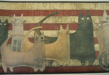 Americana Cat Border