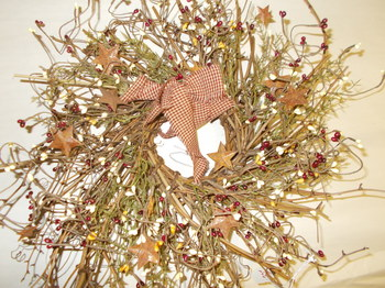 Berry and Star Wreath