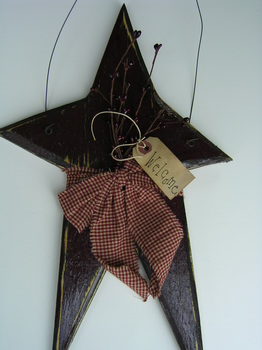 Wooden Star Wall Decor