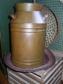 Rusty Tin Milk Can