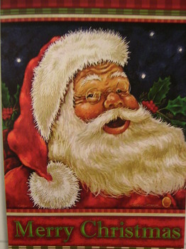 Jolly Santa Garden Flag