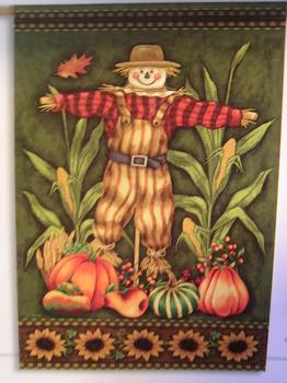 Sunflower Scarecrow Garden Flag