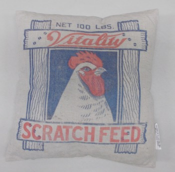 Feed Sack pillow scratch