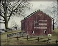 Flag Barn Canvas Print