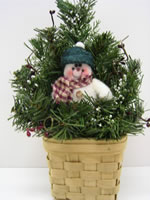 snowman wall basket