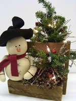 Snowman Arrangement In Box