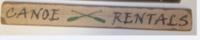 Canoe Rentals Sign