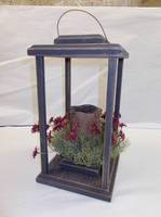 Black Wood Lantern