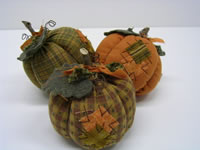 Fabric Pumpkin Set