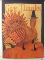 Give Thanks Turkey Flag
