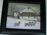 Sheep Barn In Snow
