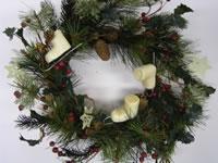 Ice Skate Pine Wreath