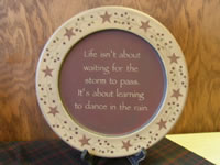 Life Waiting Wood Plate