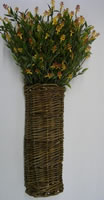 willow  wall basket florals