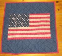 American Flag Quilt Block