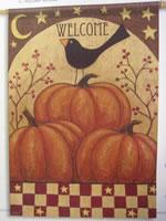 Pumpkin & Crow Garden Flag
