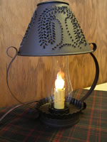 Willow  Tin Punched Lamp