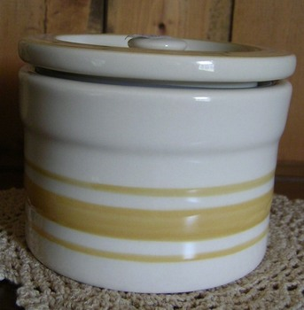 Yellow Ware Canister Small