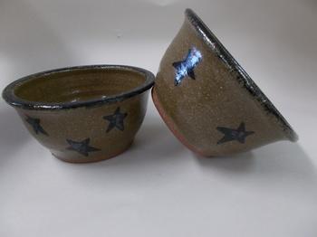 Star pottery bowl
