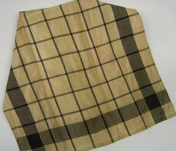 Black plaid teadyed towel