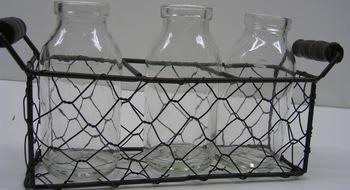 Glass Bottle Caddy Mesh