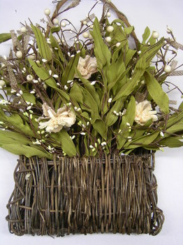 natural vine basket  florals