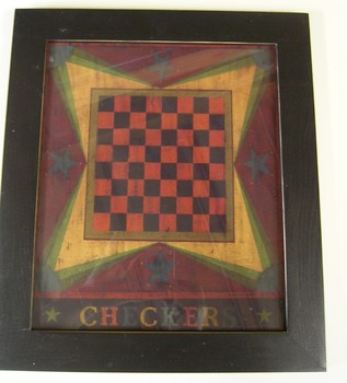 Wk Checkers Print