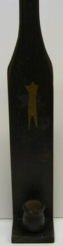 Small Wood Sconce Black