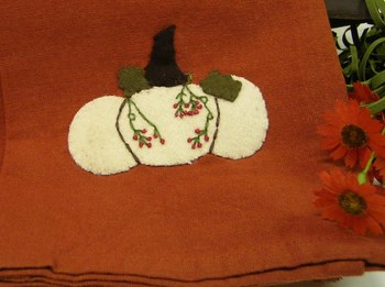 White Pumpkin Towel