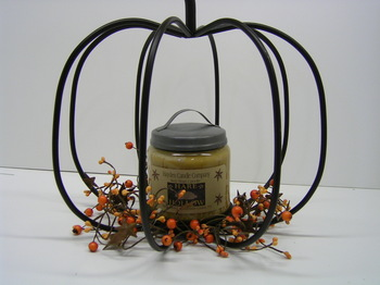 Iron Pumpkin Candle Holder