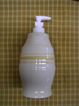 Yellow Ware Soap Dispenser