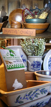 primitive pottery candles